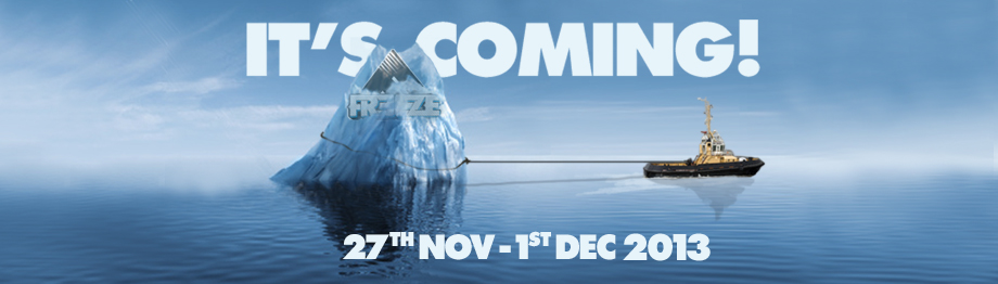 Freeze Festival return date 2013 Freezeberg
